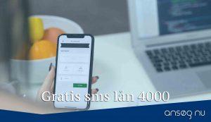 Gratis sms lån 4000