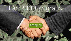 Lån 2000 kr gratis