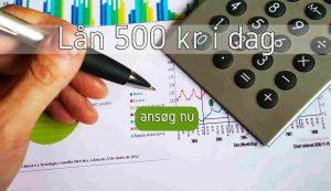lån 500 kr i dag
