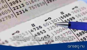 Billige lån med NemID