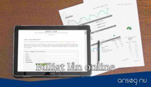Billigt lån online
