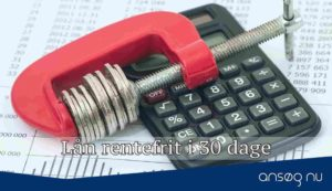 Lån rentefrit i 30 dage