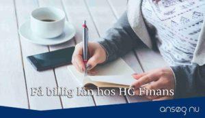Få billig lån hos HG Finans