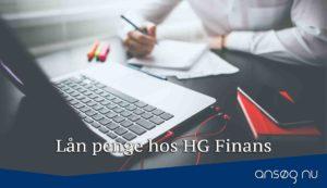 Lån penge hos HG Finans