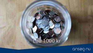 Lån 1000 kr