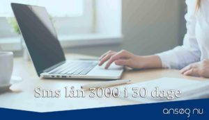 Sms lån 3000 i 30 dage