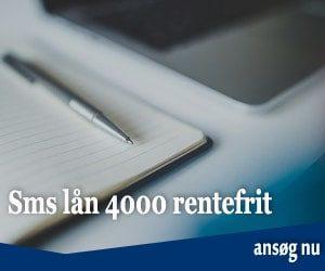 Sms lån 4000 rentefrit